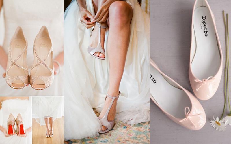 Quelles chaussures avec robe de mariee boheme