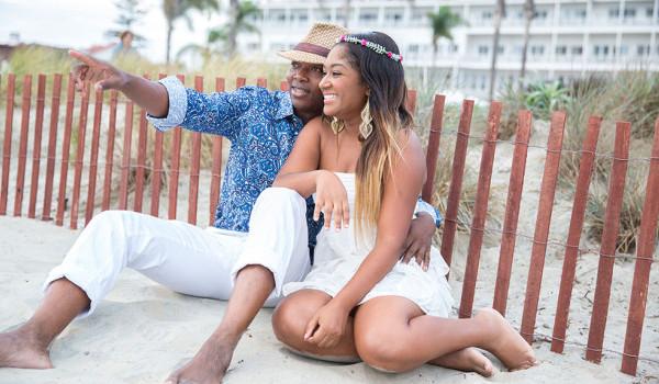 Séance de couple sur une plage de San Diego : {Jessica & Claude}