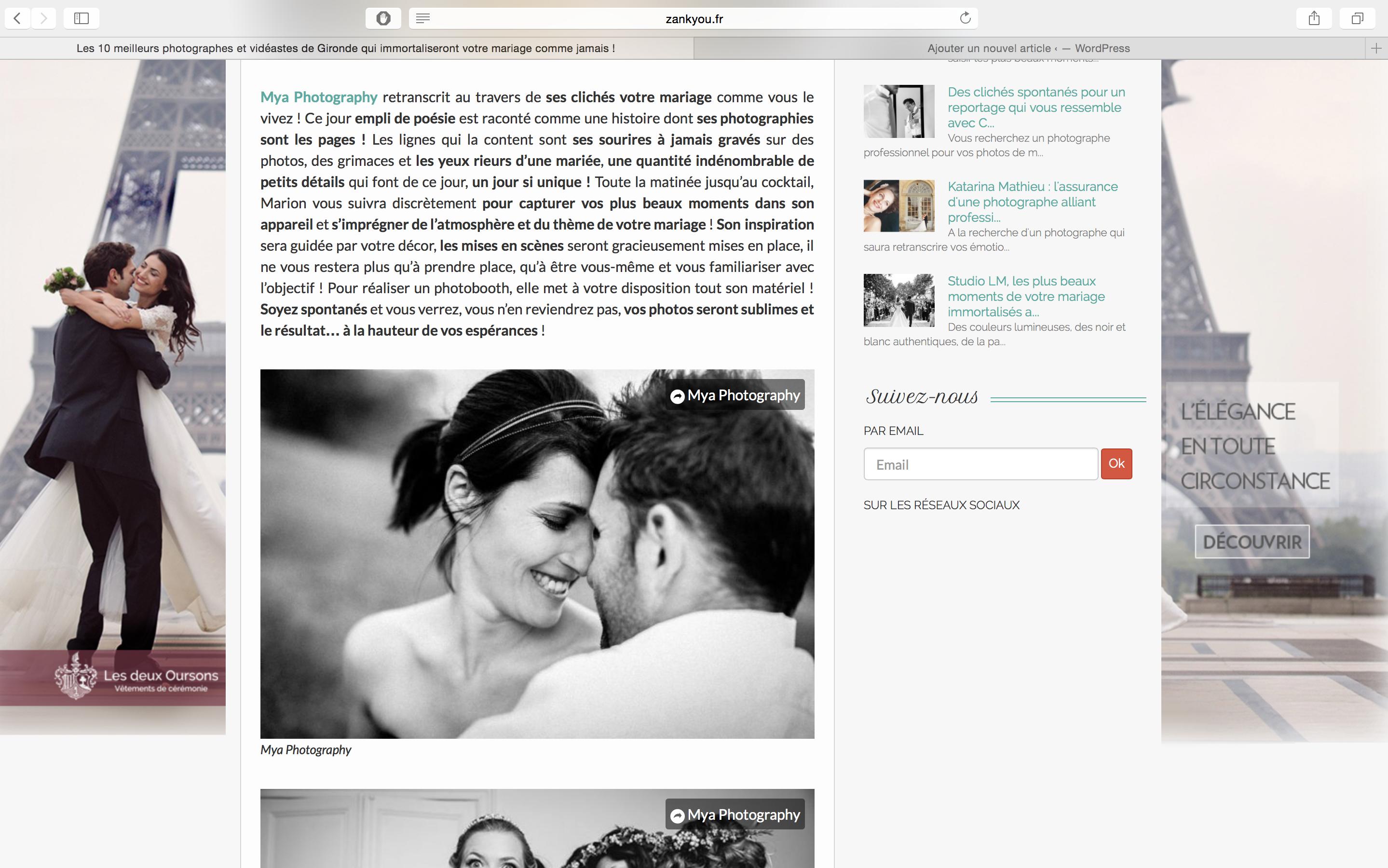 Alt les 10 meilleurs photographes de la Gironde par Zankyou Weddings