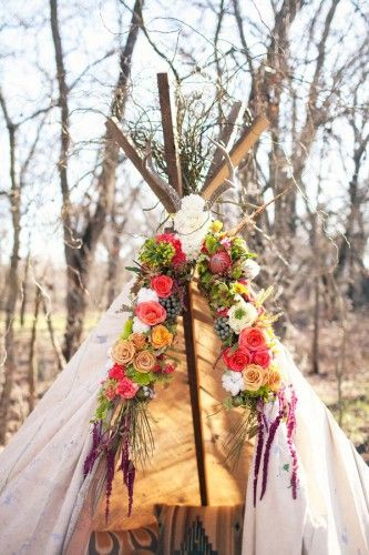 mariage,boheme,folk,idees,decoration,tipi