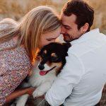 photos de couple avec un chien