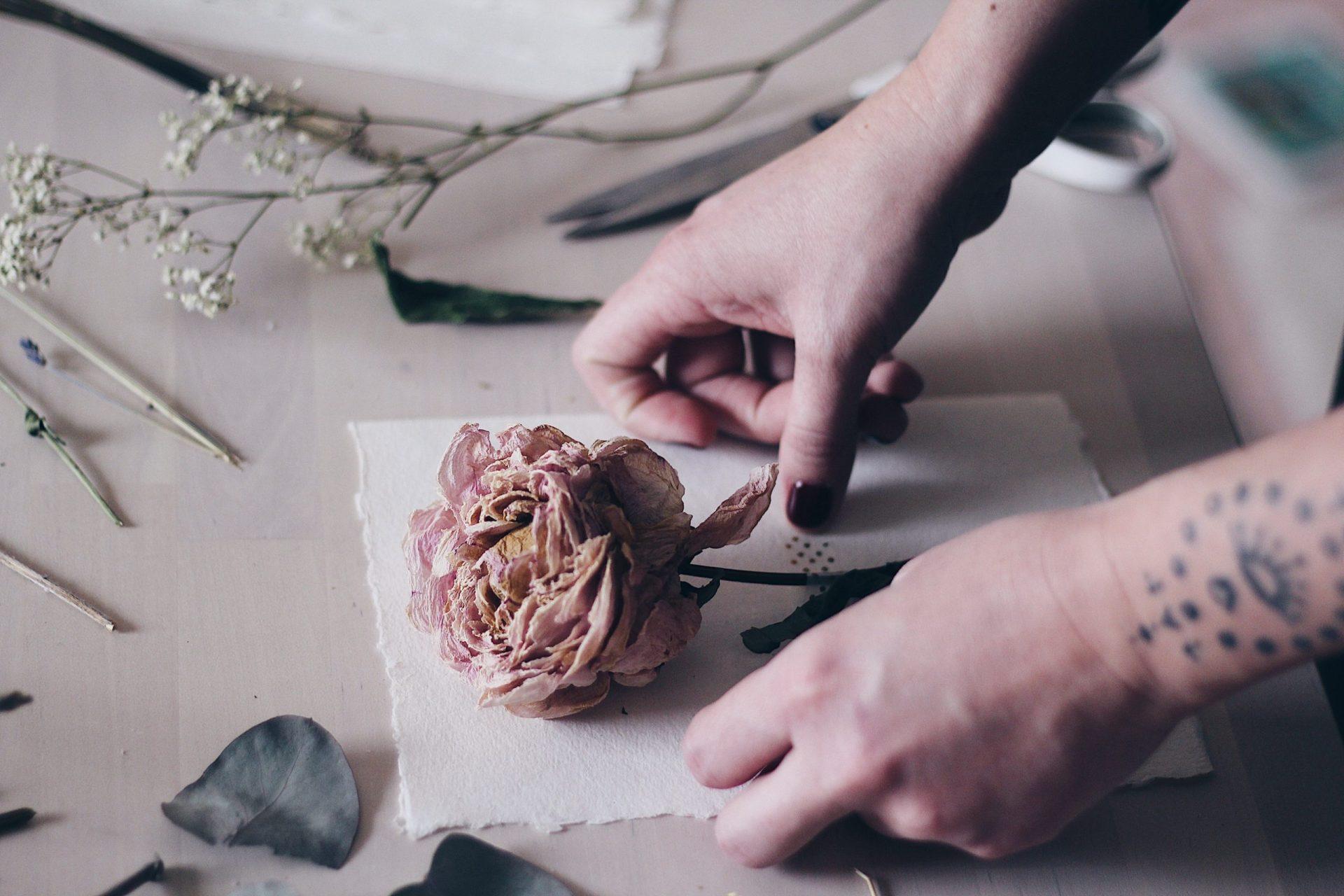 Fleurs mariage séchées