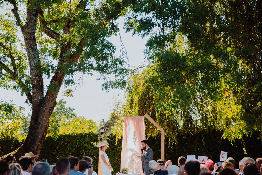 ceremonie laique au château de Lantic