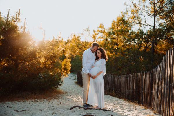Séance grossesse au Cap Ferret